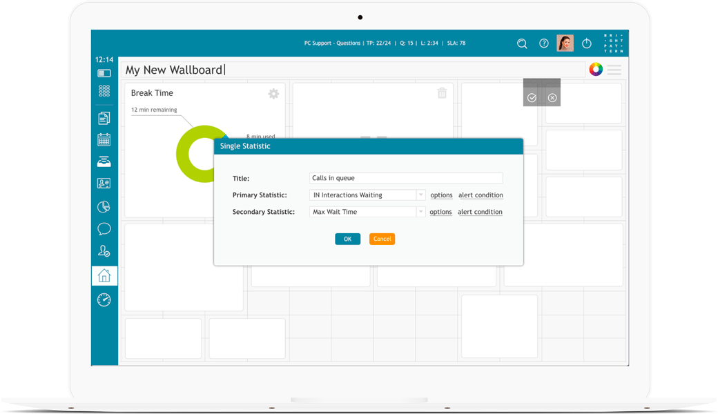 Wallboard contact center software